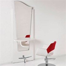 Luca Rossini Venice White Work Unit White Shelf + Footrest
