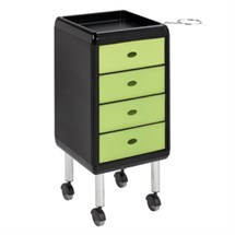 Luca Rossini Re Trolley Green Drawers