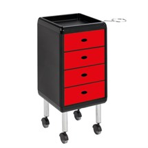 Luca Rossini Re Trolley Red Drawers