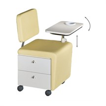 Medical & Beauty Wallie Manicure Trolley + Backrest And Tray