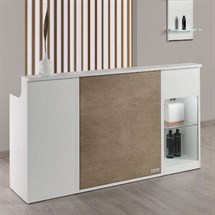 Salon Ambience Impact White Ash Reception Desk
