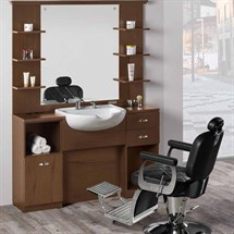 Salon Ambience Triomphe Vintage Barber Unit
