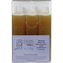 Satin Smooth Medium Wax Cartridges 6x30g