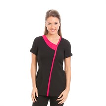 Gear Havana Black Tunic with Pink Stripe - Size 14