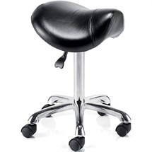 REM Saddle Stylist Stool - Black