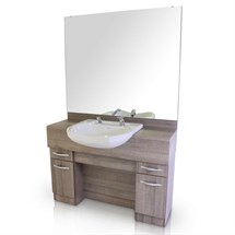 REM Mavericks Barbers Unit (with Basin)