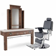 REM Emperor Barber Chair & Montana Barber Unit Without Basin Package
