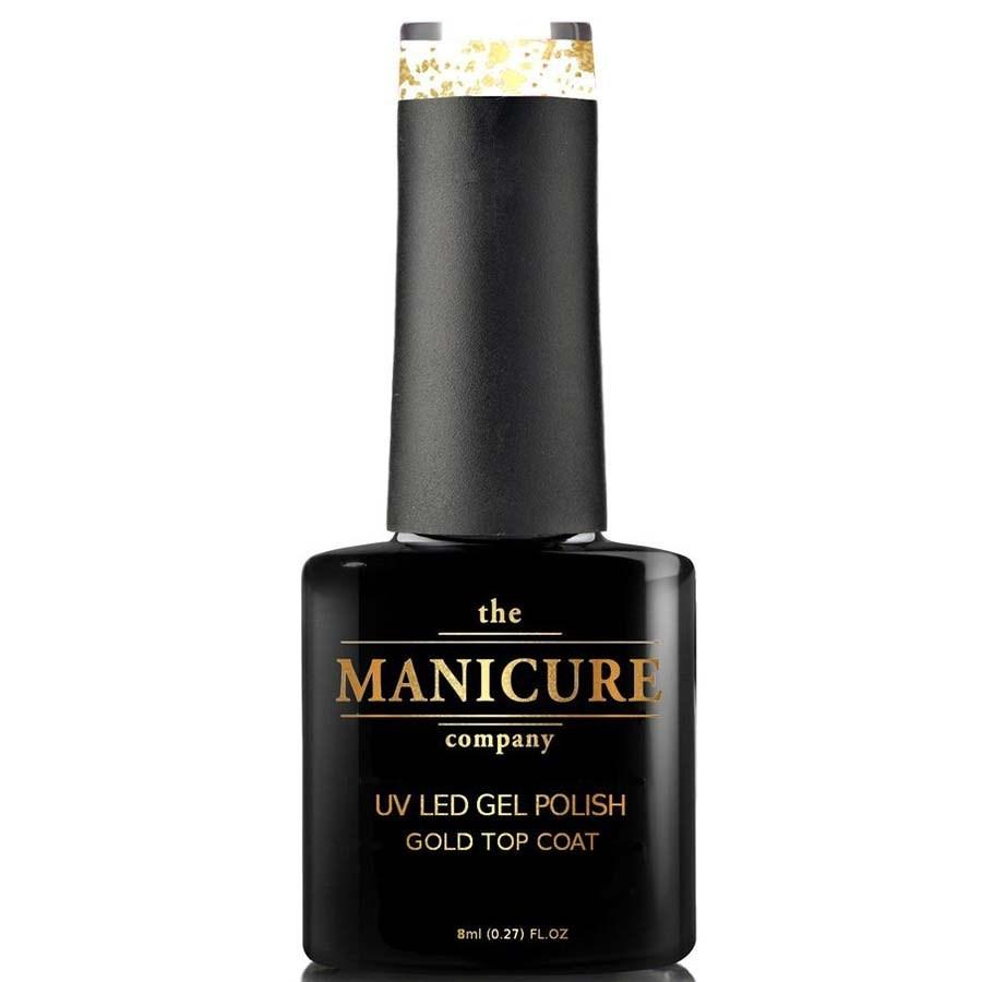 The Manicure Company UV LED Gel Nail Polish 8ml - 18ct Gold Top Coat ...