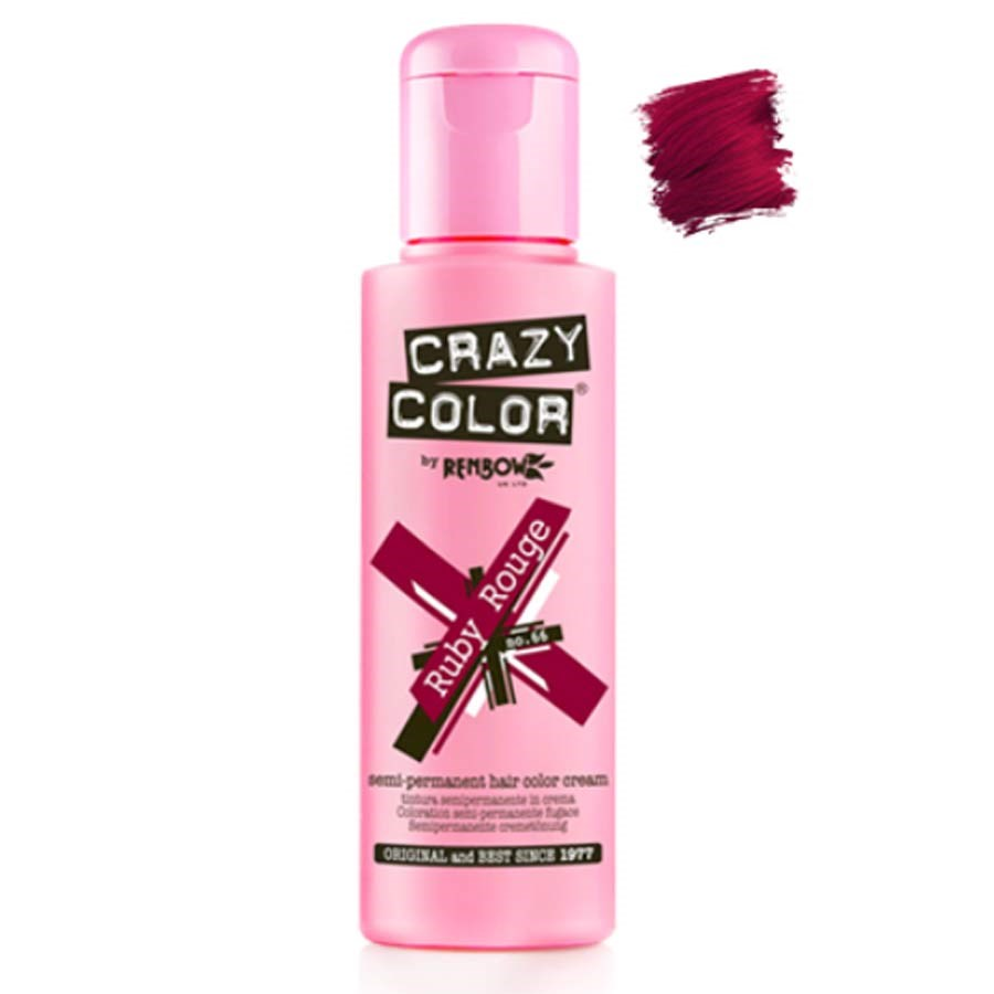 Crazy Color Hair Colour Creme 100ml Ruby Rouge Semi