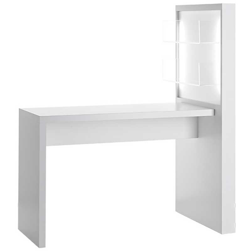 Salon Ambience Allure White Manicure Table With Product